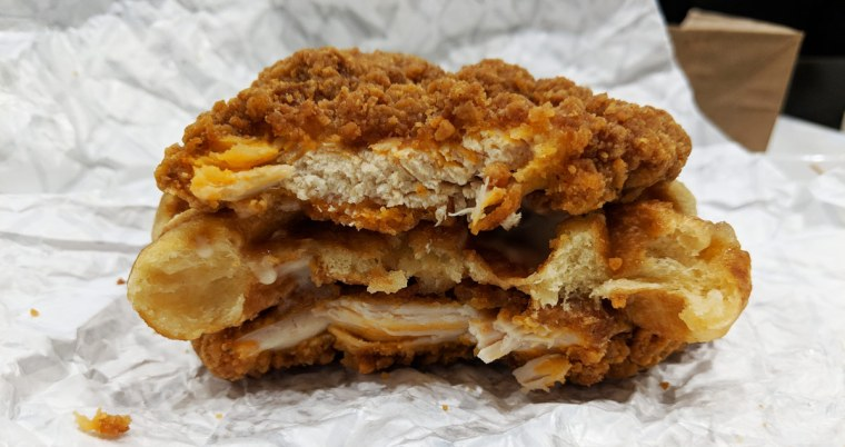 Waffle Double Down at KFC