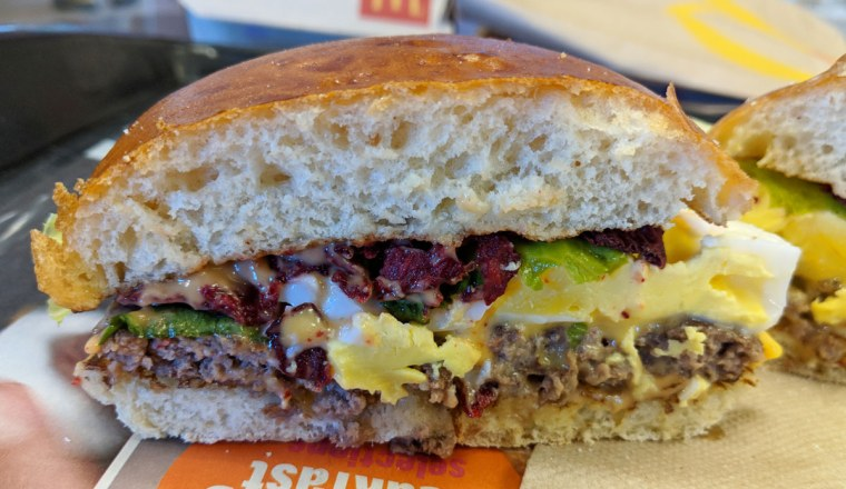 Aussie BBQ & Egg Burger at McDonald's